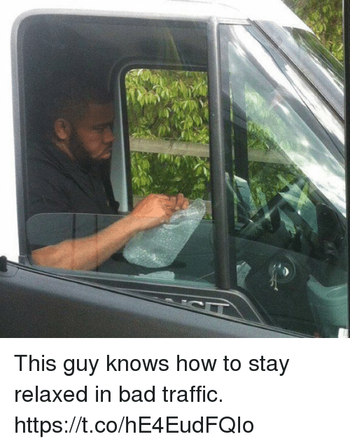 Bad, Funny, and Traffic: This guy knows how to stay relaxed in bad traffic. https://t.co/hE4EudFQIo