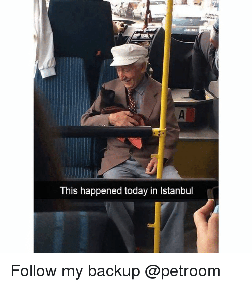 Istanbul: This happened today in Istanbul Follow my backup @petroom