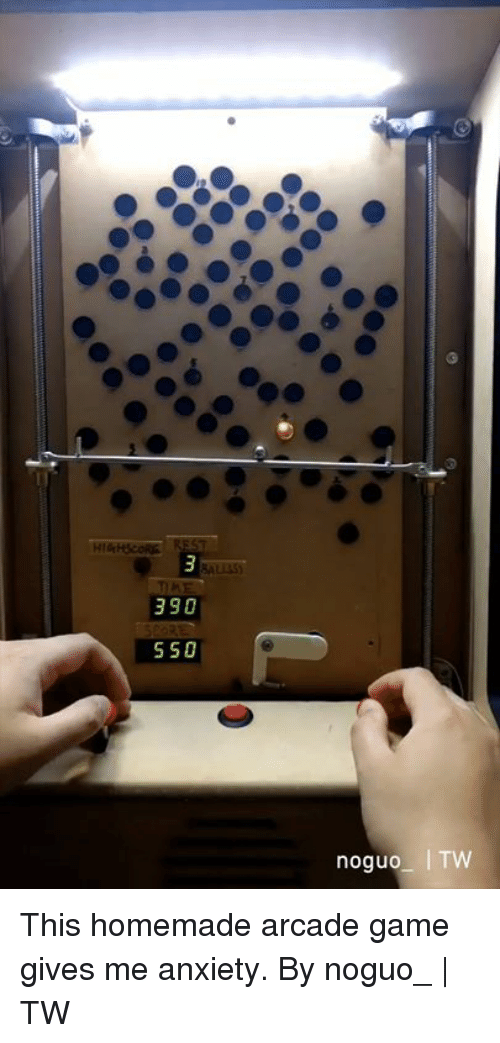 arcade: This homemade arcade game gives me anxiety.  By noguo_ | TW