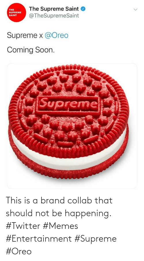 Twitter Memes: This is a brand collab that should not be happening. #Twitter #Memes #Entertainment #Supreme #Oreo