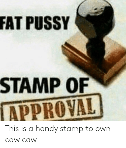 stamp: This is a handy stamp to own caw caw