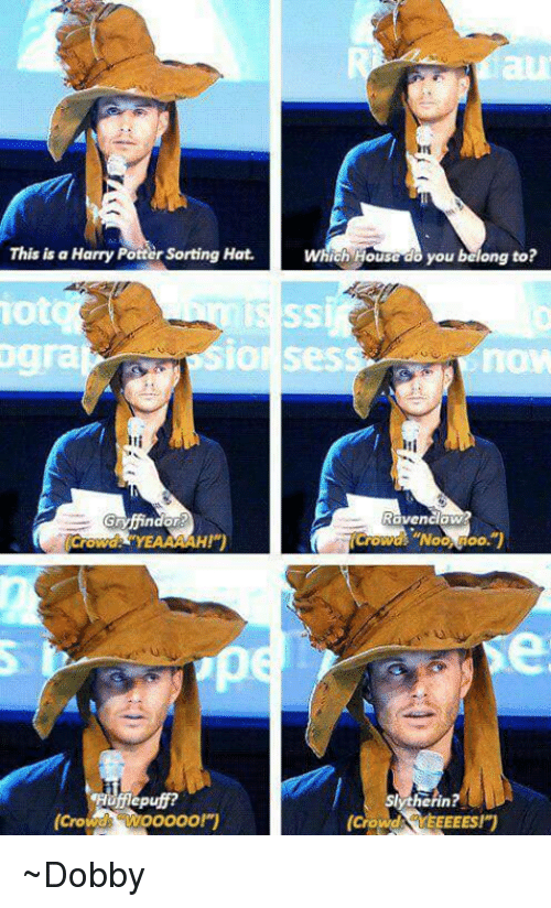 ravenclaw: This is a Harry Pottersorting Hat.  which Houcedo you balong to?  SIO Ses  Ravenclaw  Gryffindor  YEAAMAH!)  IOO.  Slytherin?  Wooooo!y  (Crowd  (Crowd  EEEEST ~Dobby