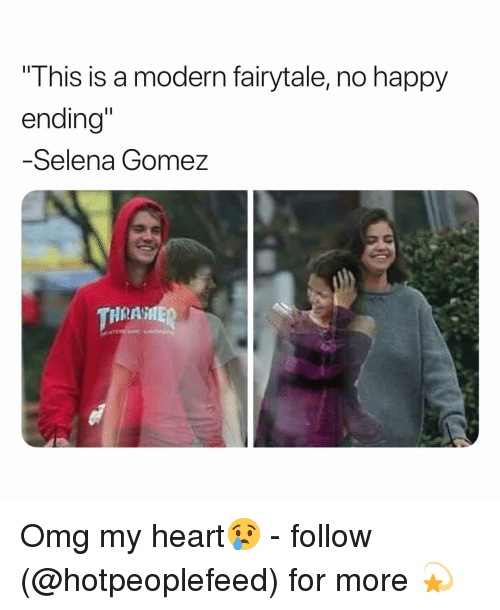 "Selena Gomez: This is a modern fairytale, no happy  ending""  -Selena Gomez  HRASHE Omg my heart😢 - follow (@hotpeoplefeed) for more 💫"