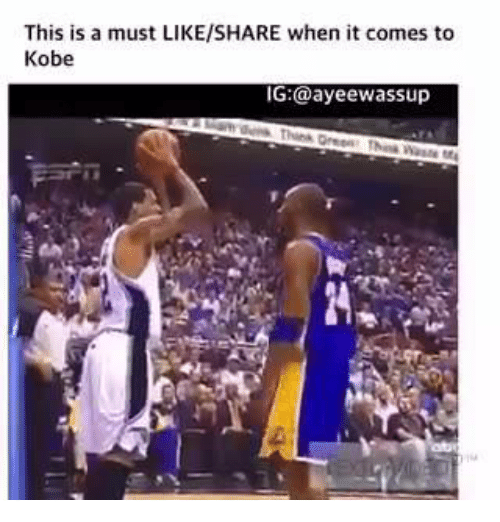SIZZLE: This is a must LIKE/SHARE when it comes to  Kobe  IG:@ayeewassup