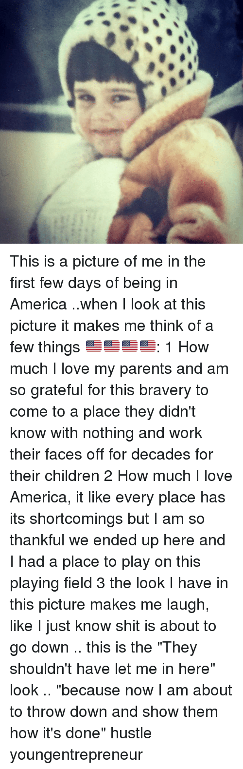 """Throw Down: This is a picture of me in the first few days of being in America ..when I look at this picture it makes me think of a few things 🇺🇸🇺🇸🇺🇸🇺🇸: 1 How much I love my parents and am so grateful for this bravery to come to a place they didn't know with nothing and work their faces off for decades for their children 2 How much I love America, it like every place has its shortcomings but I am so thankful we ended up here and I had a place to play on this playing field 3 the look I have in this picture makes me laugh, like I just know shit is about to go down .. this is the """"They shouldn't have let me in here"""" look .. """"because now I am about to throw down and show them how it's done"""" hustle youngentrepreneur"""