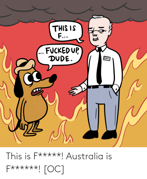 scott: THIS IS  F...  FUCKED UP,  DUDE.  SCOTT This is F*****! Australia is F******! [OC]