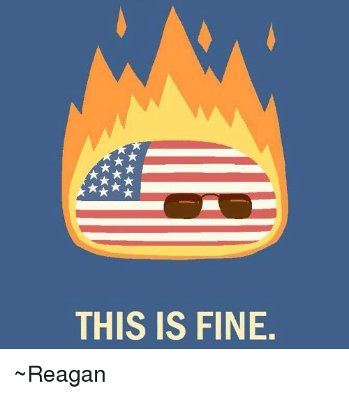 USABall: THIS IS FINE ~Reagan