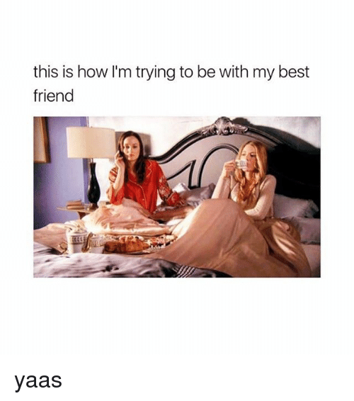 Best Friend, Memes, and Best: this is how I'm trying to be with my best  friend yaas