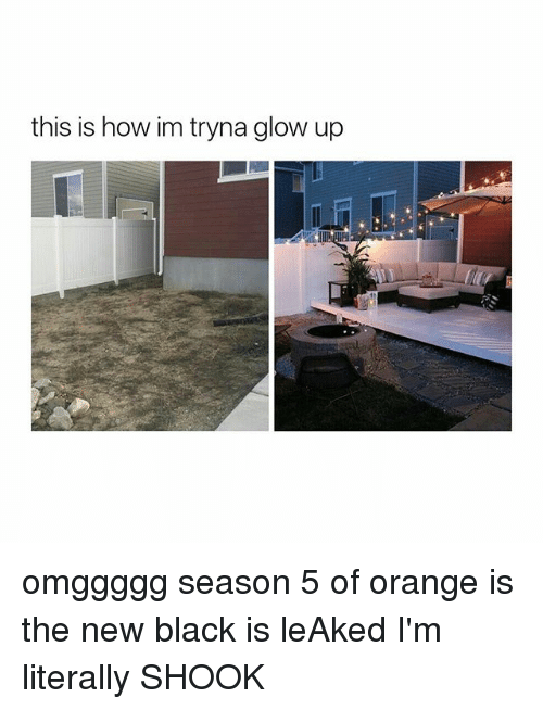Glowed Up: this is how im tryna glow up omggggg season 5 of orange is the new black is leAked I'm literally SHOOK