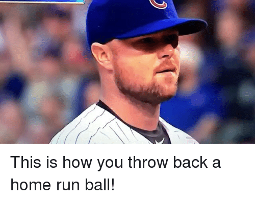 Mlb, Run, and Home: This is how you throw back a home run ball!
