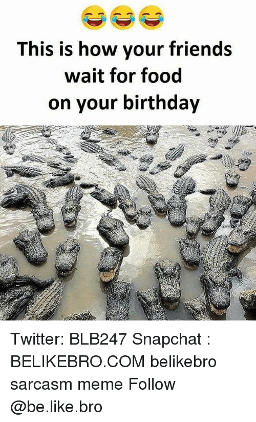Waiting For Food: This is how your friends  wait for food  on your birthday Twitter: BLB247 Snapchat : BELIKEBRO.COM belikebro sarcasm meme Follow @be.like.bro