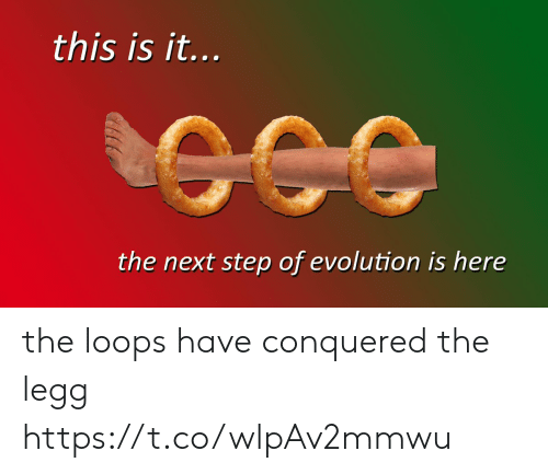 the next step: this is it...  the next step of evolution is here the loops have conquered the legg https://t.co/wlpAv2mmwu
