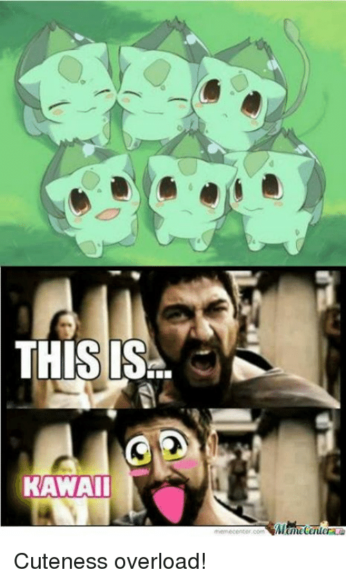 Memes, 🤖, and Overload: THIS IS  KAWAII  memecenter com Cuteness overload!