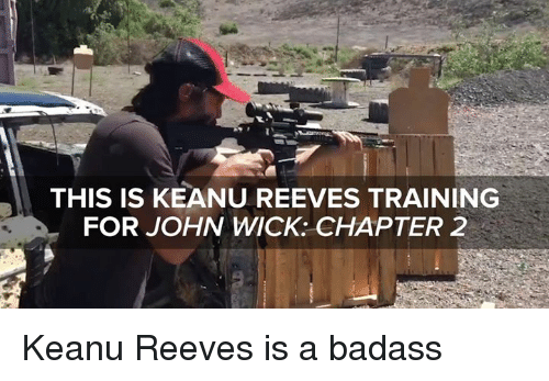 wicks: THIS IS KEANU REEVES TRAINING  FOR JOHN WICK: CHAPTER 2 Keanu Reeves is a badass