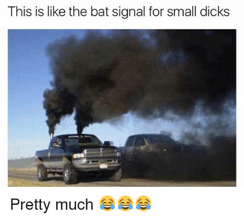 Bat Signal: This is like the bat signal for small dicks Pretty much 😂😂😂