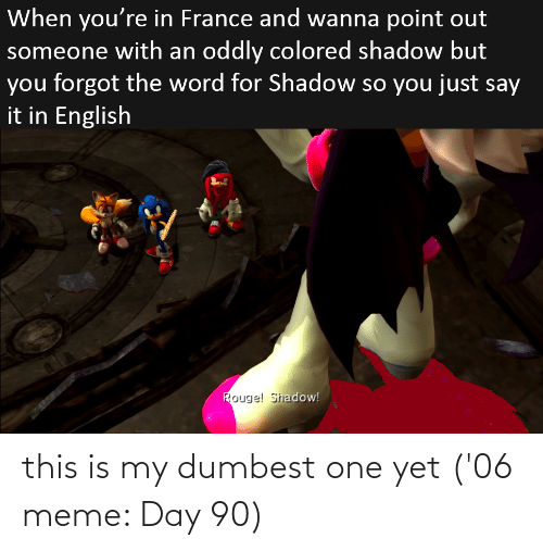 Meme Day: this is my dumbest one yet ('06 meme: Day 90)