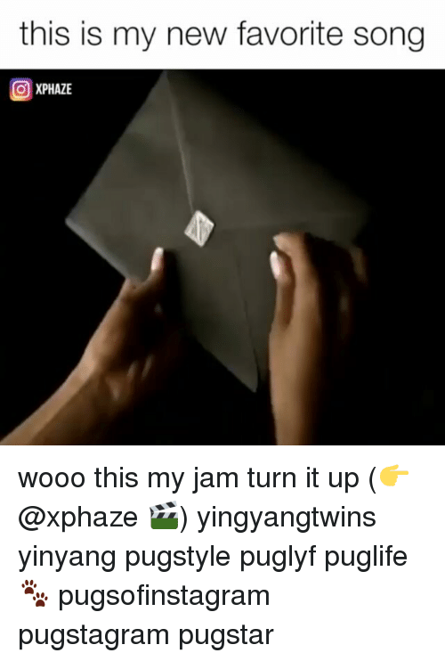 Memes, 🤖, and Song: this is my new favorite song  XPHAZE wooo this my jam turn it up (👉@xphaze 🎬) yingyangtwins yinyang pugstyle puglyf puglife🐾 pugsofinstagram pugstagram pugstar