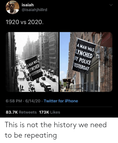 The: This is not the history we need to be repeating