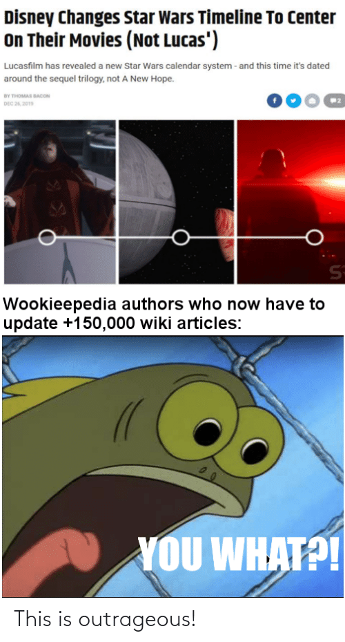 Outrageous: This is outrageous!