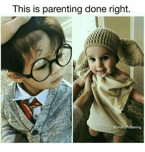 Parenting Done Right: This is parenting done right.  IGH  Potterring