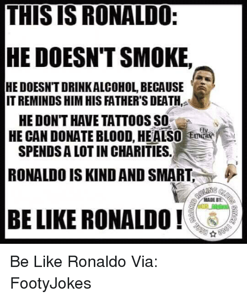 Funny ronaldo memes of 2016 on sizzle cristiano ronaldo for Can i give blood if i have a tattoo