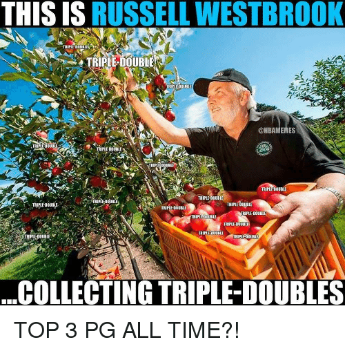 westbrook: THIS IS RUSSELL WESTBROOK  TRIPLE-DOUBLES  TRIPLE-DOUBLE  TRIPLE DOUBLE  @NBAMEMES  TRIPLE DOUBLE  TRIPLE-DOUBLE  TRIPLE DOUBLE  TRIPLE-DOUBLE  TRIPLE DOUBLE  TRIPLE DOUBLE  TRIPLE DOUBl  ,  TRIPLE-DOUBLE  TRIPLE-DOUBLE  RIPLE-DOUBLE  TRIPLE DOUBLE  TRIPLE-DOUBLE  TRIPLE DOUBLE  IRIPLE-DOUBLE  TRIPLE-DOUBLE  COLLECTING TRIPLE-DOUBLES TOP 3 PG ALL TIME?!