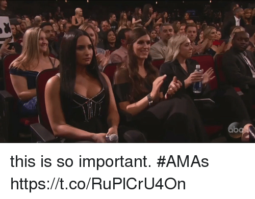 Amas: this is so important. #AMAs https://t.co/RuPlCrU4On