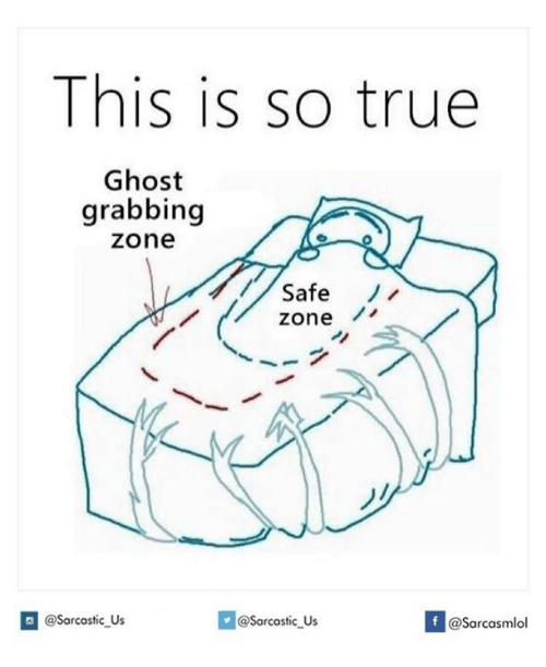 Safe Zone: This is so true  Ghost  grabbing  Zone  Safe  zone  @sarcastic us  @sarcastic us  If @Sarcasmlol