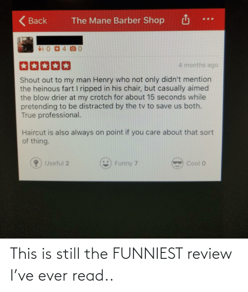 read: This is still the FUNNIEST review I've ever read..