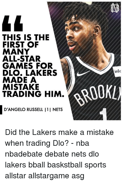 Nets: THIS IS THE  FIRST OF  MANY  ALL-STAR  GAMES FOR  DLO. LAKERS  MADE A  MISTAKE  TRADING HIM.  infc  ROOKL)  D'ANGELO RUSSELL I1I NETS Did the Lakers make a mistake when trading Dlo? - nba nbadebate debate nets dlo lakers bball baskstball sports allstar allstargame asg