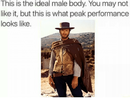 Bodies , Controversial Cowboy, and Idealism: This is the ideal male body. You may not  like it, but this is what peak performance  looks like.