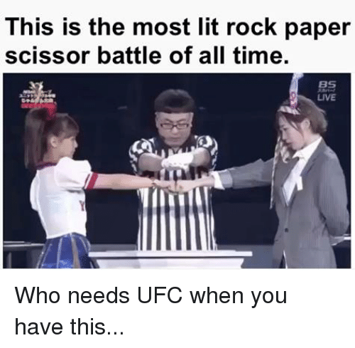 scissoring: This is the most lit rock paper  scissor battle of all time  LIVE Who needs UFC when you have this...