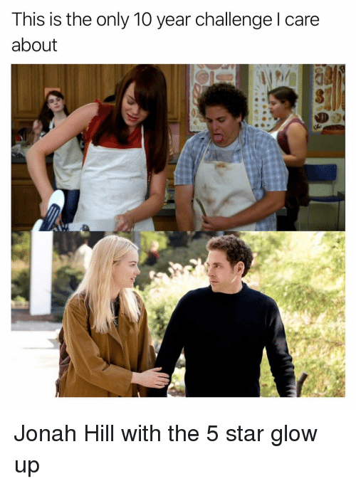 Glow Up: This is the only 10 year challenge l care  about Jonah Hill with the 5 star glow up