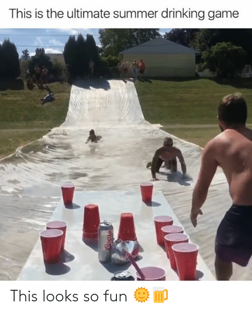 Drinking Game: This is the ultimate summer drinking game  Coors This looks so fun 🌞🍺