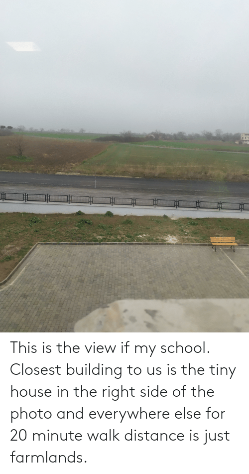 tiny house: This is the view if my school. Closest building to us is the tiny house in the right side of the photo and everywhere else for 20 minute walk distance is just farmlands.