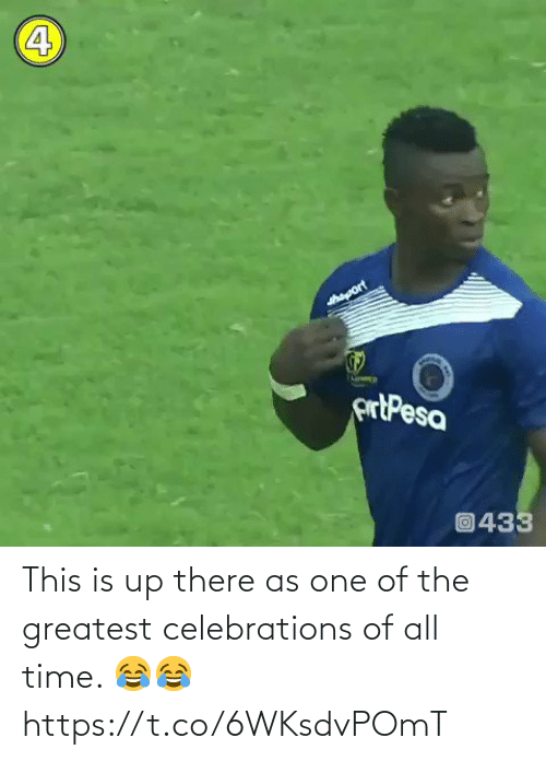 greatest: This is up there as one of the greatest celebrations of all time. 😂😂 https://t.co/6WKsdvPOmT