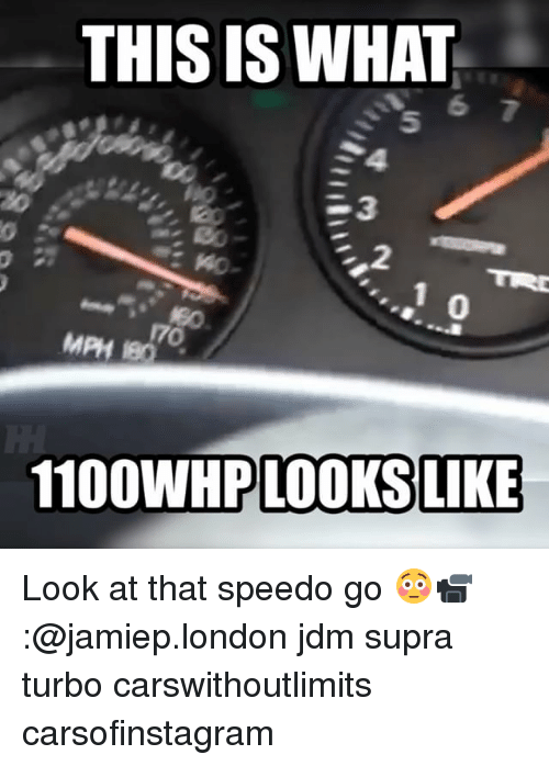 supra: THIS IS WHAT  5  23  0  0  170  MPH 180  1100WHP LOOKS LIKE Look at that speedo go 😳📹:@jamiep.london jdm supra turbo carswithoutlimits carsofinstagram