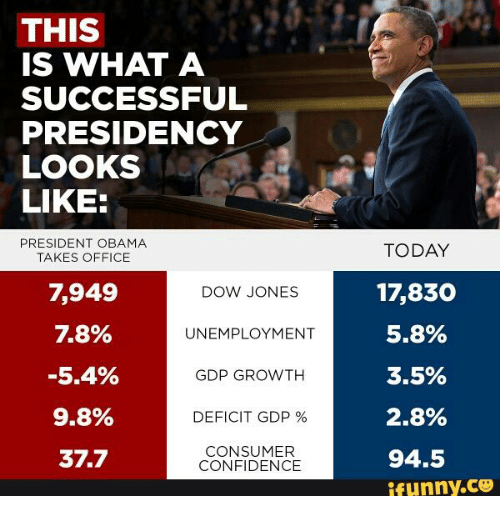 THIS IS WHAT A SUCCESSFUL PRESIDENCY LOOKS LIKE PRESIDENT