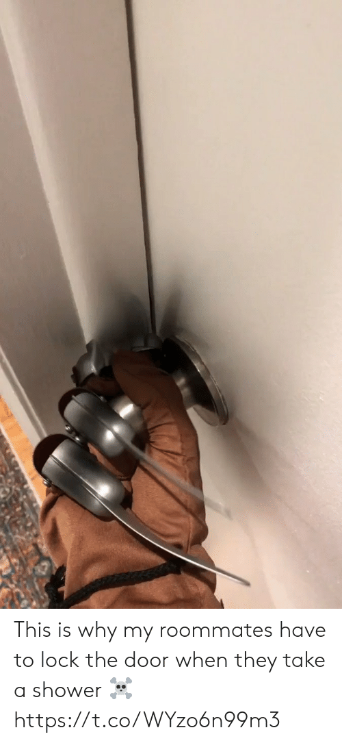 roommates: This is why my roommates have to lock the door when they take a shower ☠️ https://t.co/WYzo6n99m3