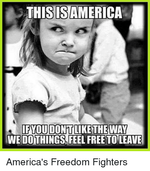 America Freedom: THIS ISAMERICA  IFYOU DONT  LIKE THE WAY  WE DOTHINGS FEEL FREE TO LEAVE America's Freedom Fighters