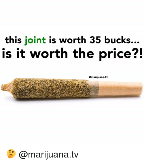 Memes, Marijuana, and 🤖: this joint is worth 35 bucks...  is it worth the price?!  @marijuana.tv 🤔 @marijuana.tv