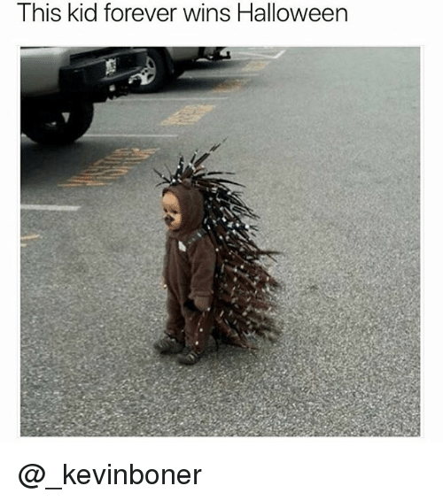 Funny, Halloween, and Meme: This kid forever wins Halloween @_kevinboner