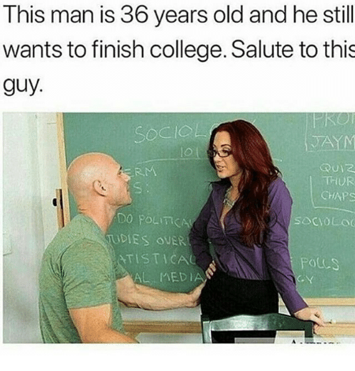 median: This man is 36 years old and he still  wants to finish college. Salute to this  guy.  TA  lo l  RM  THUR  CHAPS  DO POLICA  DIES OUER  ATISTICAe  socVOL  POLCS  AL MEDIAN