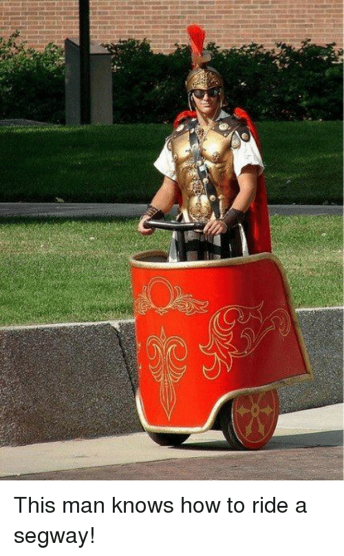 Segway: This man knows how to ride a segway!