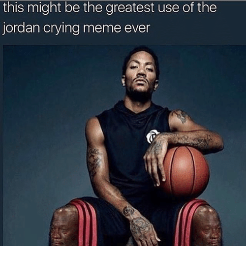 Crying Meme: this might be the greatest use of the  jordan crying meme ever