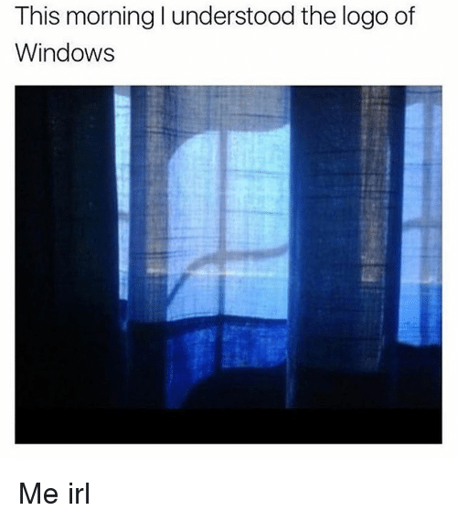 Memes, Windows, and Irl: This morninglunderstood the logo of  Windows Me irl