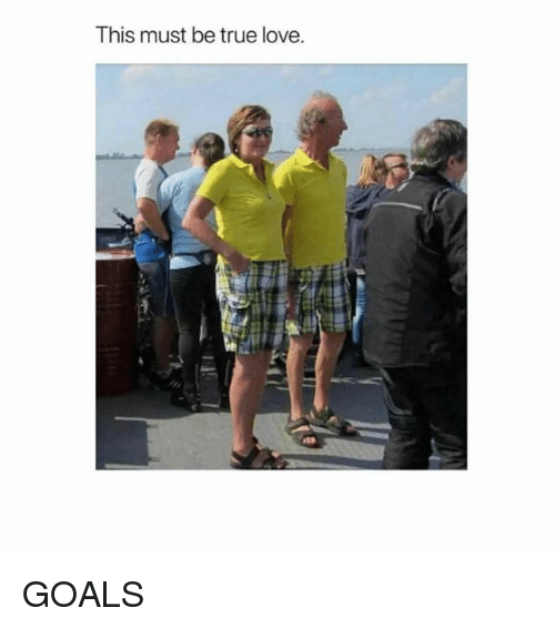 Goals, Love, and Memes: This must be true love. GOALS