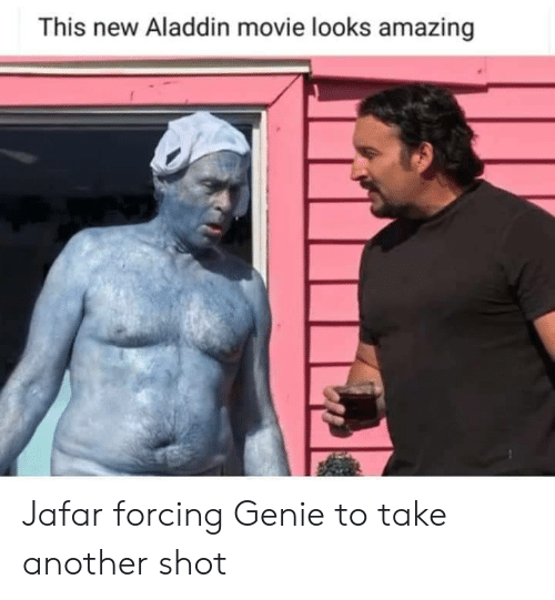 jafar: This new Aladdin movie looks amazing Jafar forcing Genie to take another shot