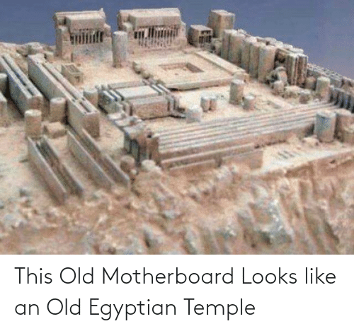 Egyptian: This Old Motherboard Looks like an Old Egyptian Temple