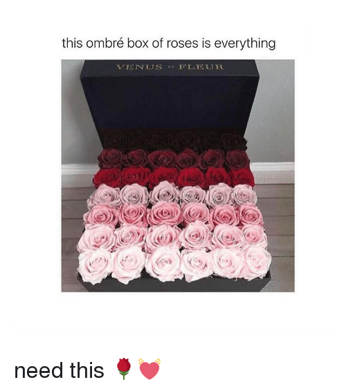 ombre: this ombré box of roses is everything  VENUs FLEUR. need this 🌹💓